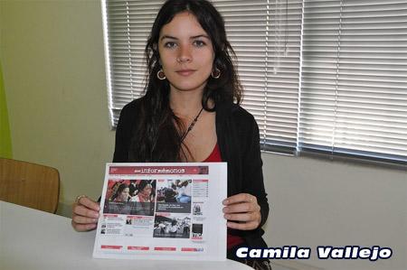 Камила Вальехо: «Это борьба не только чилийских студентов, но всей молодёжи мира» (Фото Олега Ясинского)