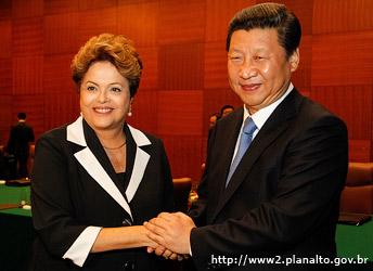 Dilma Rousseff y Xi Jinping