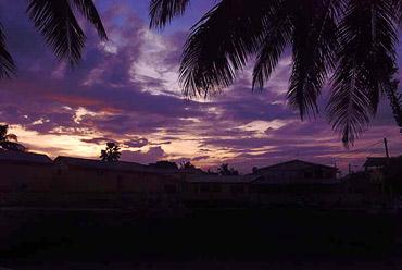 Карибский предштормовой закат