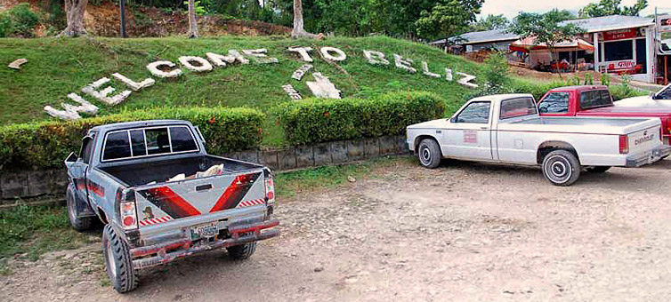 На границе Белиза и Гватемалы