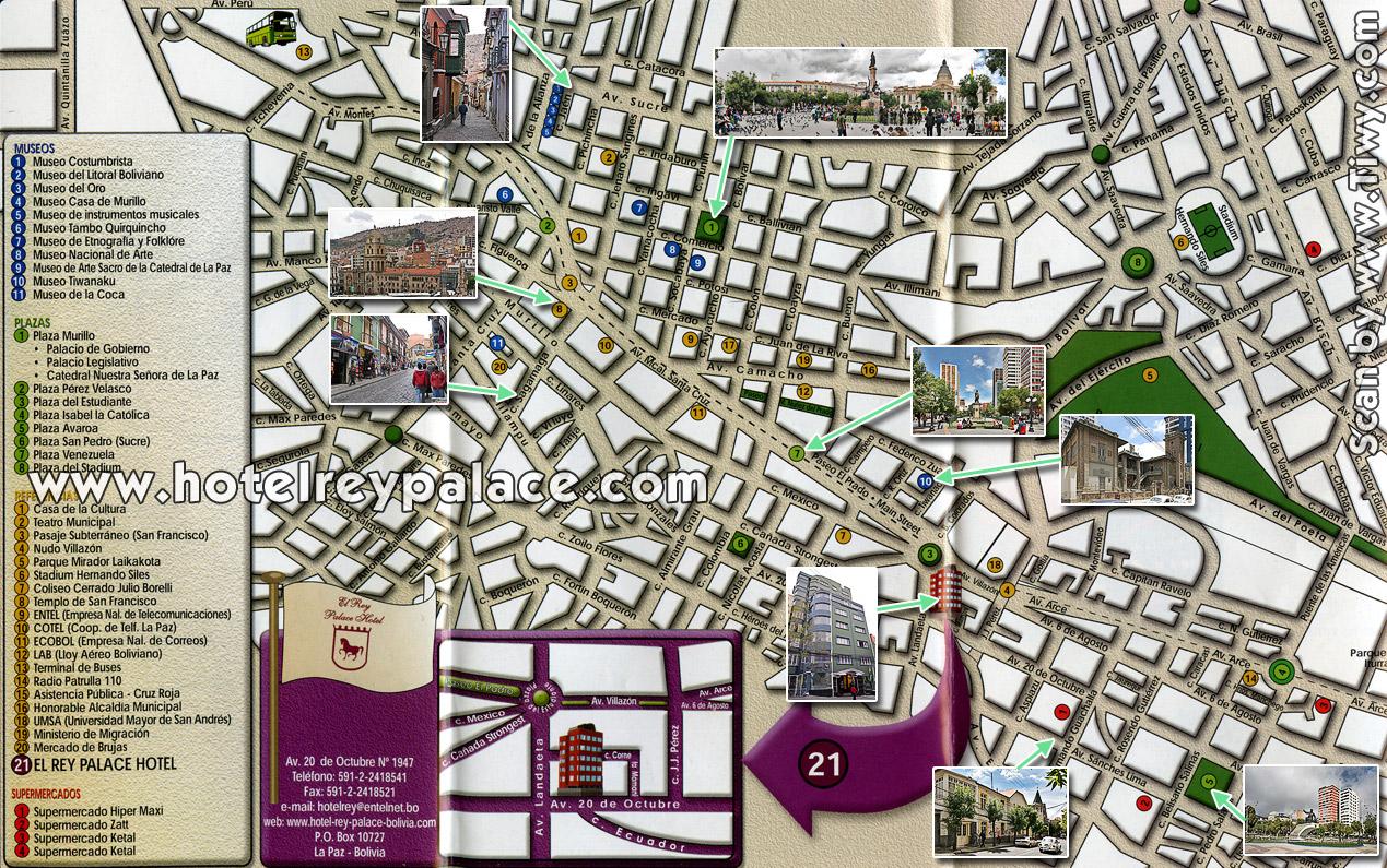 Tiwycom Map Of La Paz Bolivia La Paz Bolivia - la paz map