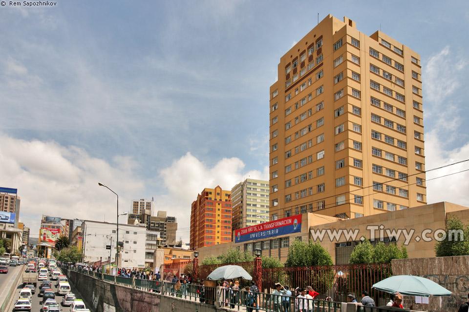 > La Paz > Paseo el Prado > Universidad Mayor de San Andres (UMSA
