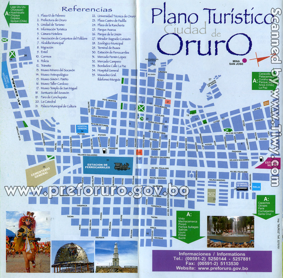 Tiwy Com Map Of Oruro Bolivia