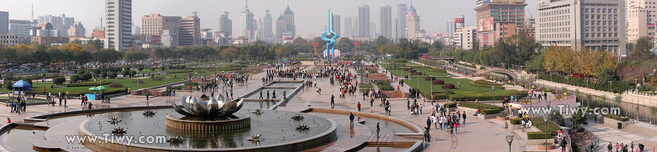 Jinan China  City pictures : Panoramic view of Jinan, China
