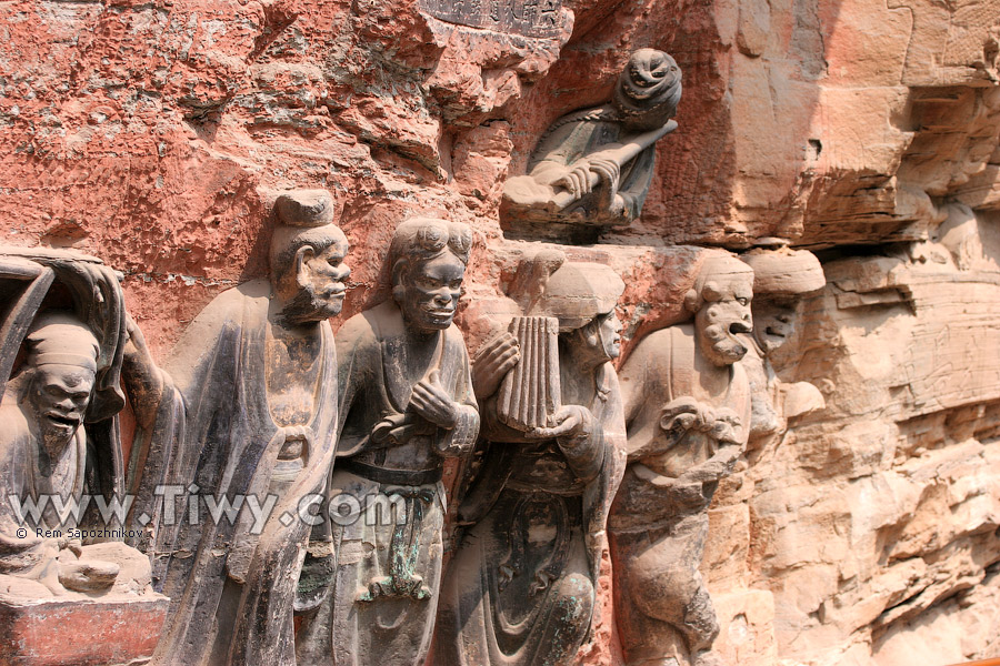 Dazu rock carvings travel to the southwest china