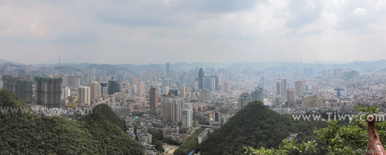 In the north of the city of Guiyang there is a large mountain Qianlingshan Park. It has everything: mountains, lakes, monkeys, caves, view of Guiyang,