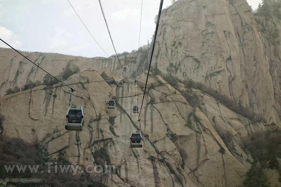 Huashan Mountain West Cable Car April 2014 Shaanxi