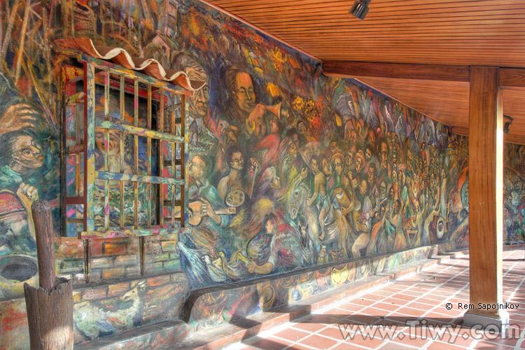 El mural los puertos y el petr leo gabriel for El mural de anuncios
