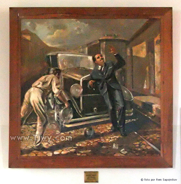 El fatal accidente (pintor:  Ivan Belsky)